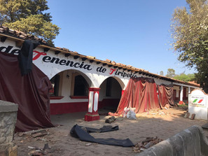 Supervisa SUOP avance de remodelación de jefaturas de tenencia en Tiripetío y Santiago Undameo