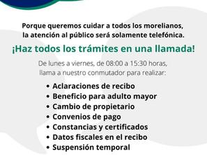 El OOAPAS anuncia nueva modalidad para realizar trámites