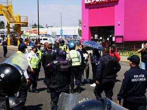 Desarticula SSP manifestación de Normalistas que bloqueaba Calzada la Huerta.