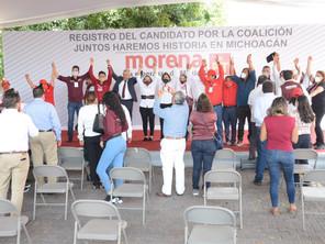 Registra morena -PT a Alfredo Ramírez Bedolla como su candidato al gobierno de Michoacán