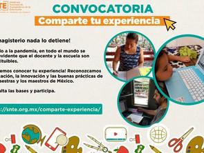 Lanza el SNTE convocatoria para compartir experiencias frente al Covid-19
