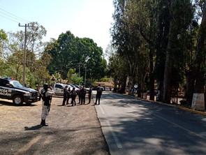 Policía Michoacan en coordinacion con policía  Morelia y GN,  mantiene acciones en Viernes Santo