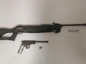 Detiene SSP a tres en posesión de un arma y cartuchos útiles
