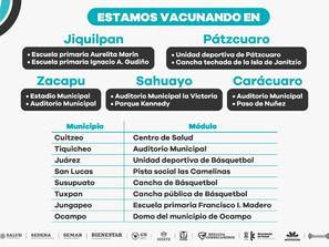 Vacunados contra COVID-19, 304 mil 140 adultos mayores de 60 años en Michoacán