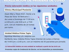 Gobierno de Morelia continua jornadas de detección de COVID entre la población