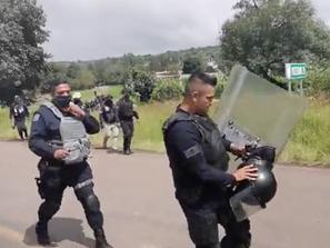 Refuerza SSP acciones operativas en Tiripetío, ante agresión contra agentes policiales