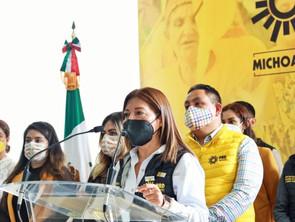 Mujeres del PRD respaldan cruzada por  la libertad ciudadana del Gobernador, Silvano Aureoles Conejo