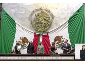 Elige Pleno del Congreso del Estado, Mesa Directiva para el 1er. Periodo de la LXXV Legislatura