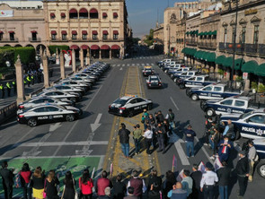 Entrega Raúl Morón cámaras y patrullas a Policía de Morelia