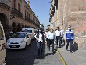 Revisan autoridades de Policía Morelia y Secretaría de Movilidad y Espacio Público, orden vial
