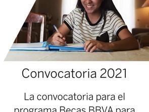 Convocatoria de becas BBVA extiende su plazo hasta 23 de junio