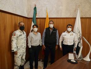 Refuerza Humberto Arróniz coordinación entre Gobierno de Morelia y la Guardia Nacional