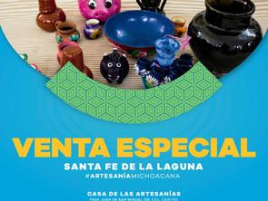 Ofrece IAM venta especial de artesanía de Santa Fe de la Laguna