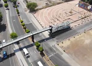 Gobierno de Morelia, reutiliza y reubica secciones de puente peatonal en favor de la comunidad.
