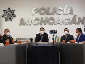 Policía Michoacán, acreditada internacionalmente: SSP