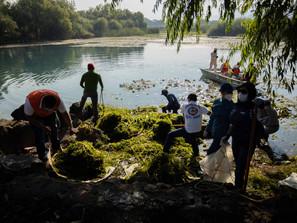 """Realizan saneamiento en presa """"La Mintzita"""", de Morelia"""