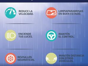 Brinda SSP recomendaciones para prevenir accidentes, ante lluvias en el Estado