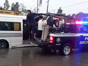 Realiza SSP labores viales ante encharcamientos por lluvias en Morelia