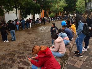 Despliega SSP dispositivo de vigilancia ante manifestación en Morelia