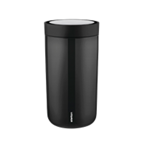 Stelton One Click Coffee Cup Black