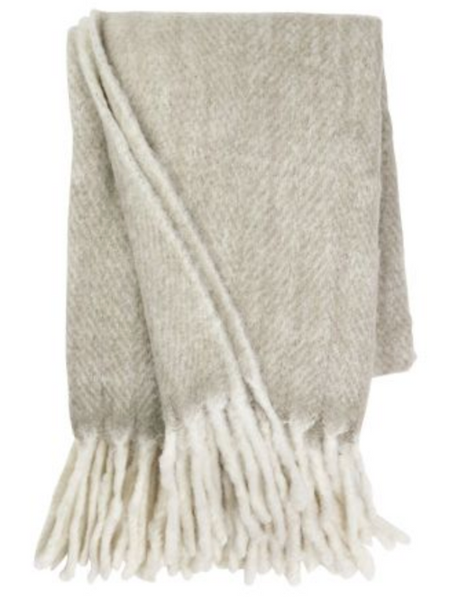 Mohair Throw Khaki
