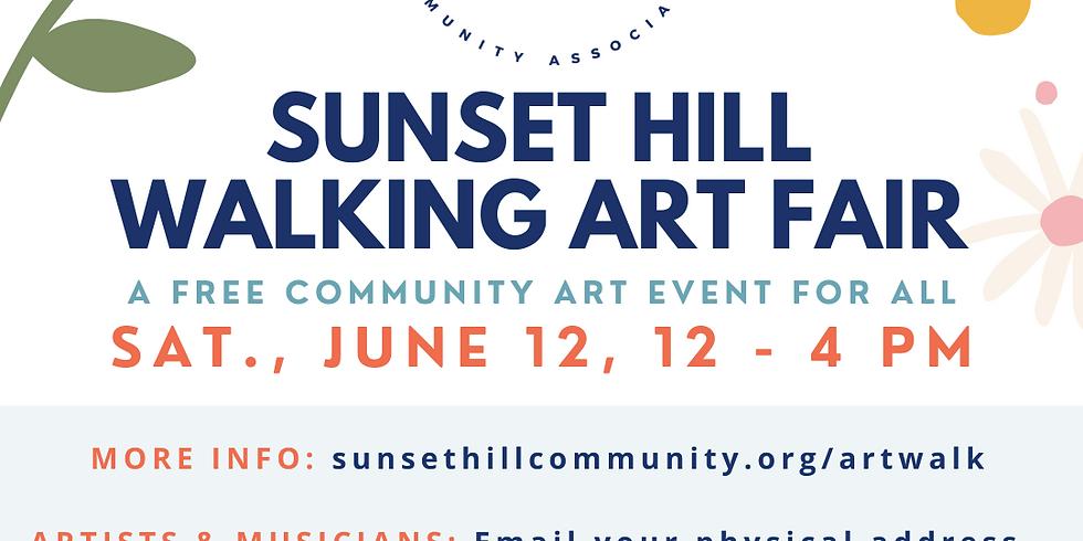 Sunset Hill Walking Art Fair Saturday June 12th