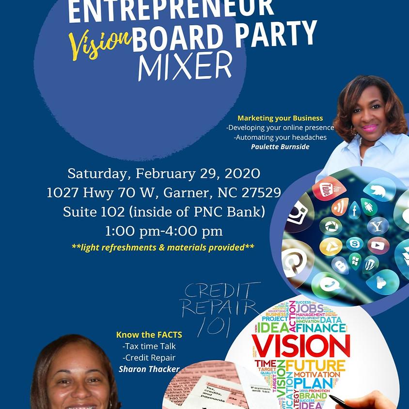 Entrepreneur Vision Board Party Mixer