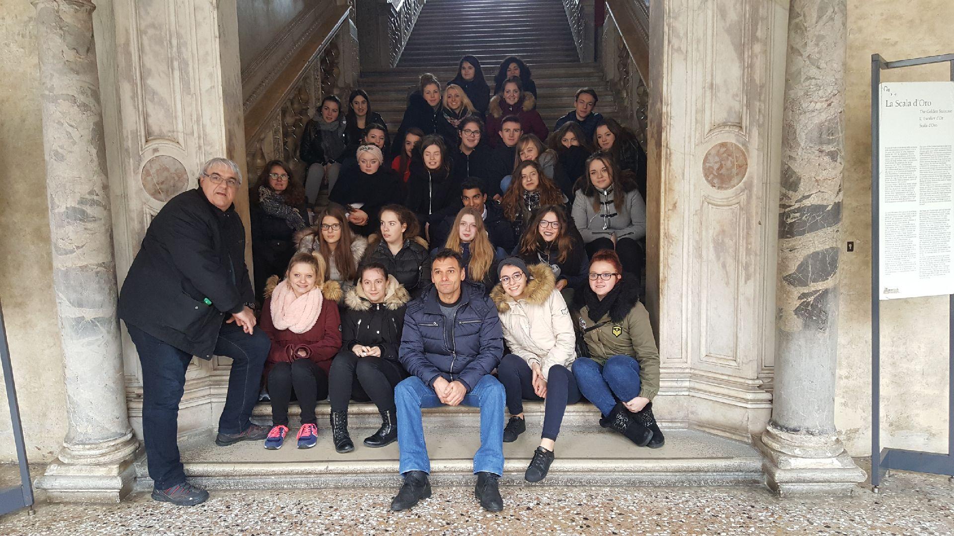 Escalier d'or du Palais des Doge mercredi