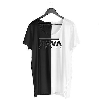 FlavaMusic Black & White Long Shirt