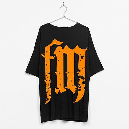 FlavaMusic Black FM Box Fit Shirt