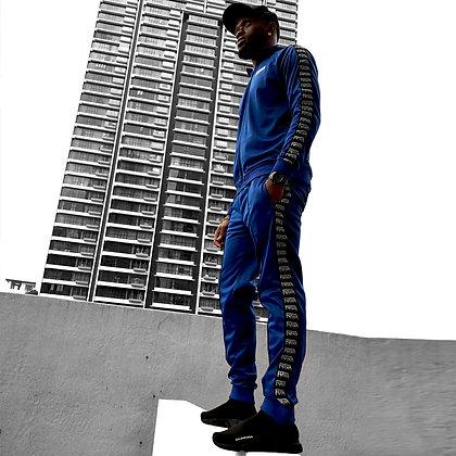 FlavaMusic Blue Tape Tracksuit
