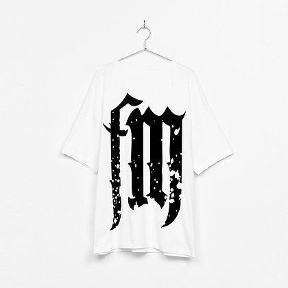 FlavaMusic White FM Box Fit Shirt