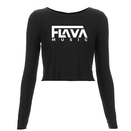 Flava Music Ladies Long Sleeved Crop Top