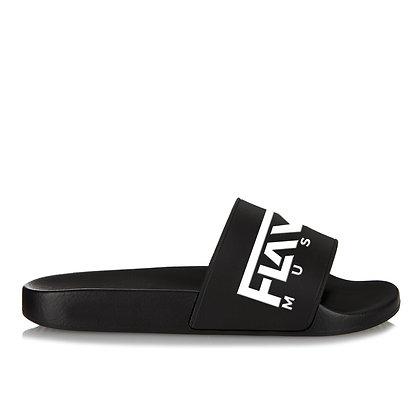 FlavaMusic Black Slide Sandal