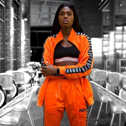 FlavaMusic Orange Tape Tracksuit