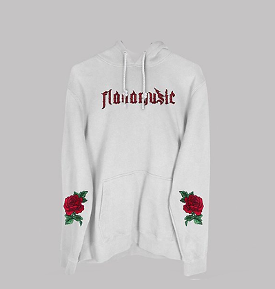 FlavaMusic White Rose Hoodie