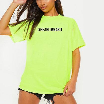 #HearItWearIt Statement Neon BoxFit Shirt
