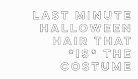 #BeautyWithBritt: Halloween Hair That *Is* The Costume