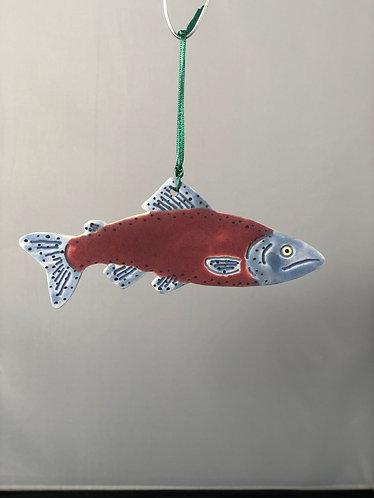 Red Salmon Ornament