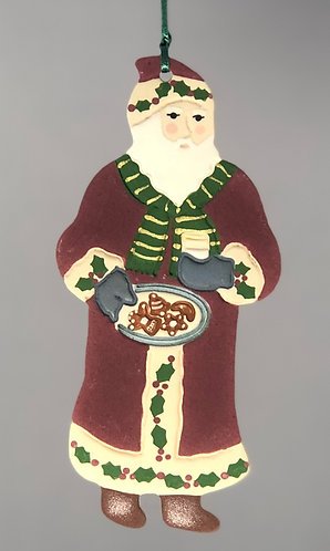 Santa with Cookies Ornament