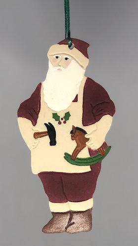 Toymaker Santa Ornament