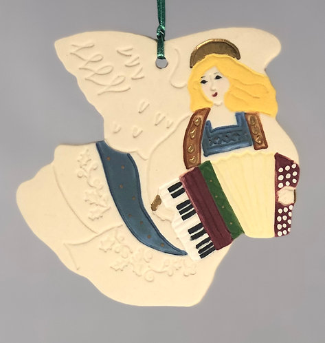 Angel with Accordion Ornament