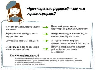 Адаптация сотрудников: в чем лучше передать?
