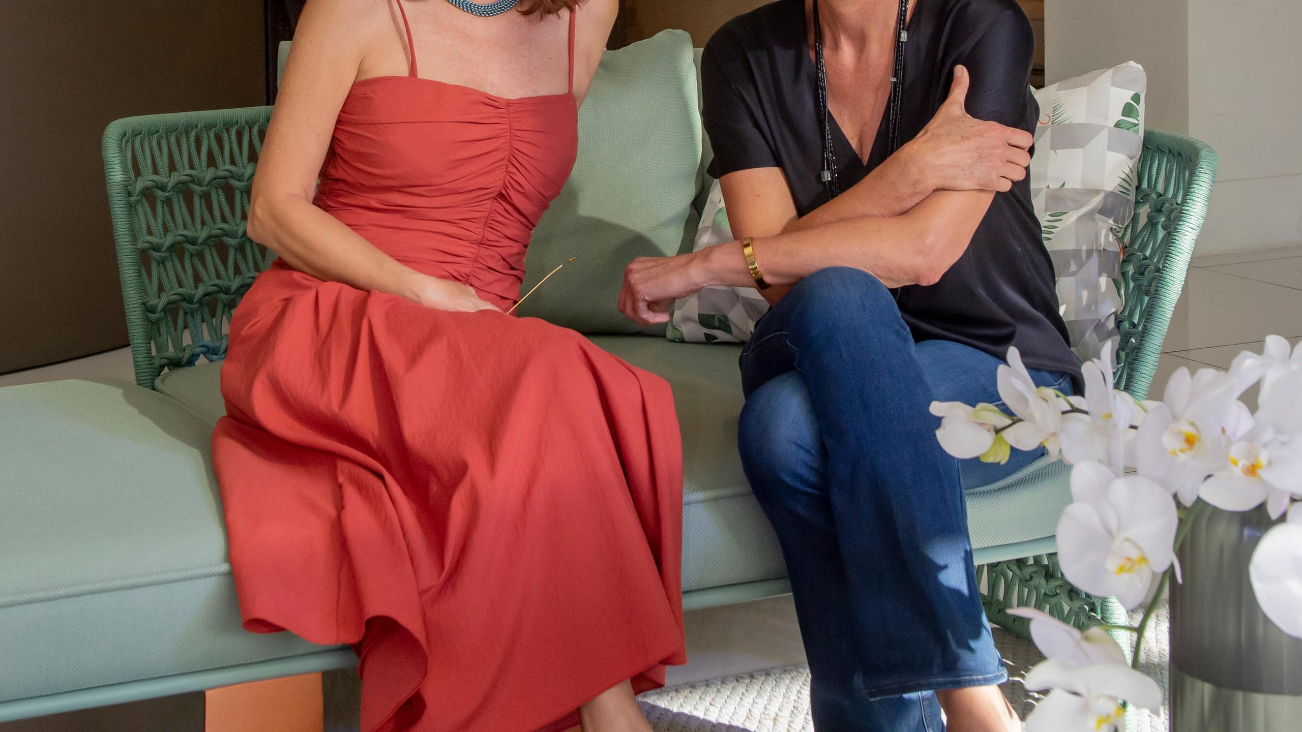 Patricia Mayer e Clarissa Schneider