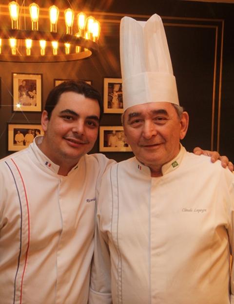 Chefs Ricardo e Claude-Lapeyre
