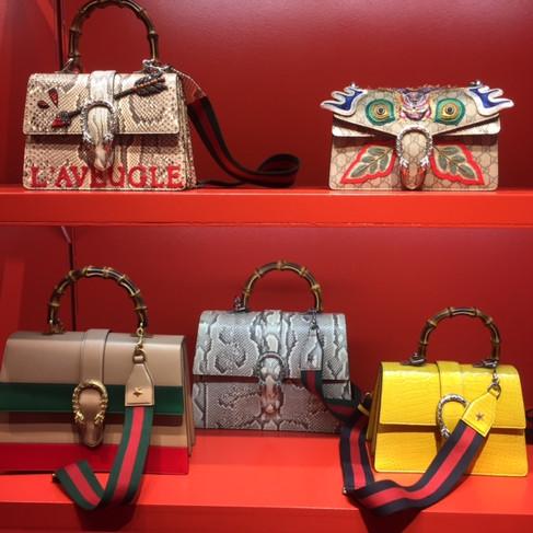Visitando o showroom da Gucci