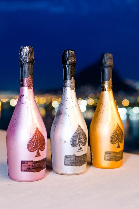 Sunset dinner regado a Champagne Armand de Brignac