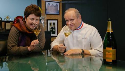 Joel Robuchon recebe Roberta Sudbrack em Paris