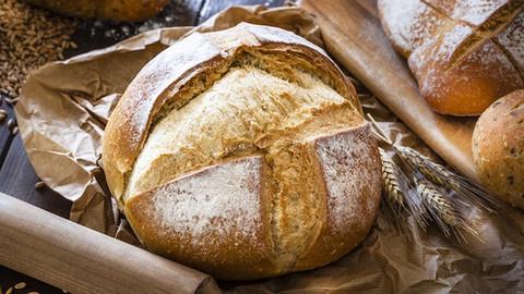 Pão artesanal, faça em casa.