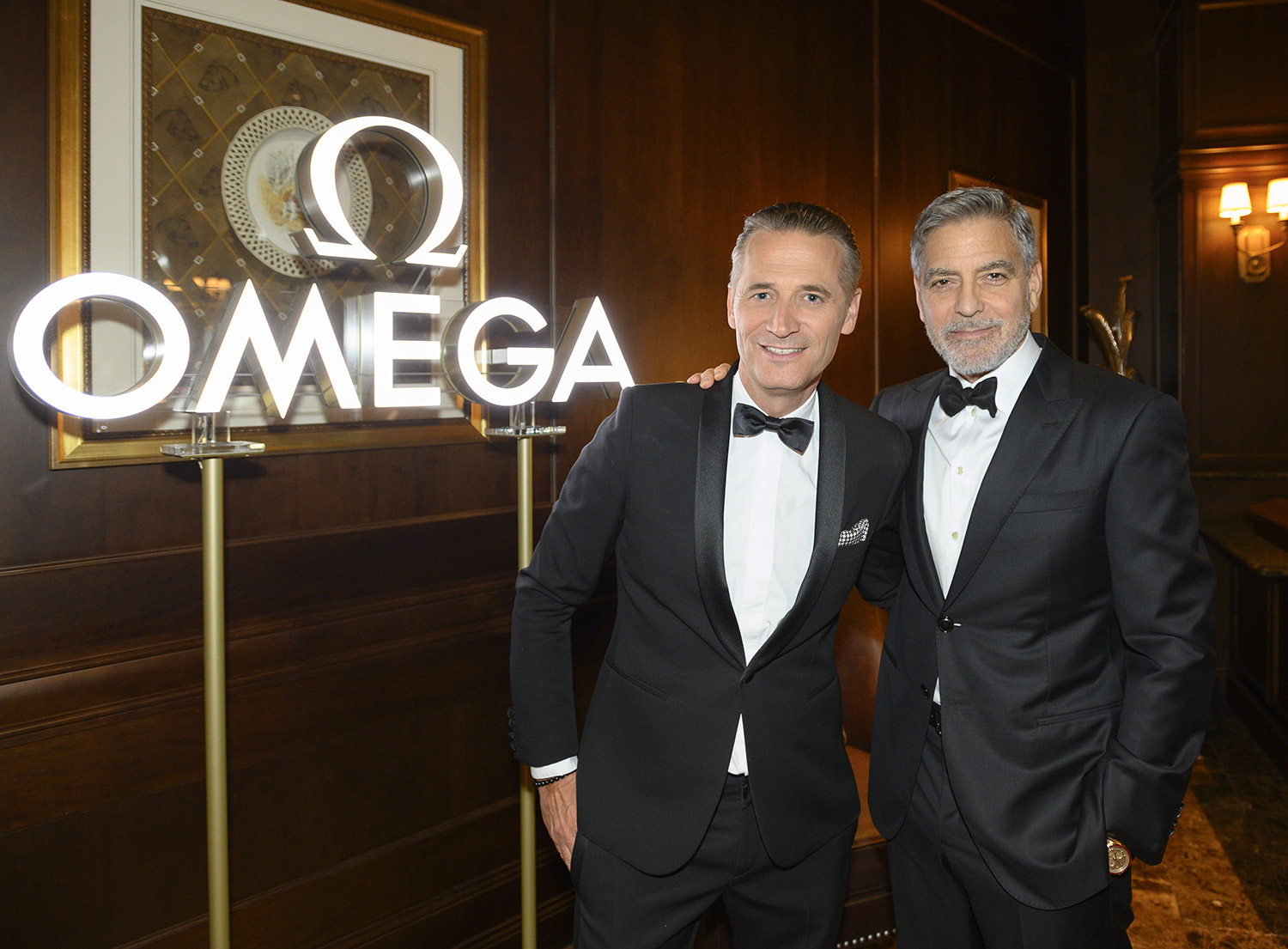 President and CEO of OMEGA Raynald Aeschlimann George Clooney